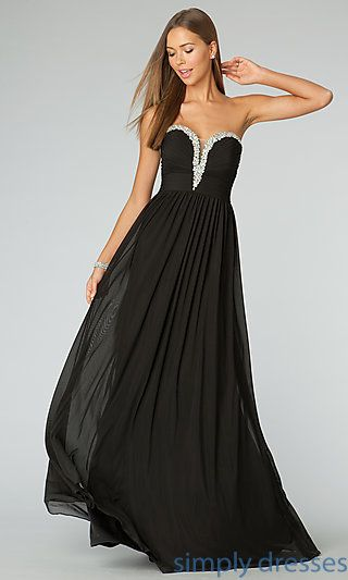 b65c8695d7d Shop Simply Dresses for strapless formal dresses and long strapless prom  dresses. Strapless evening gowns by JVN for Jovani.
