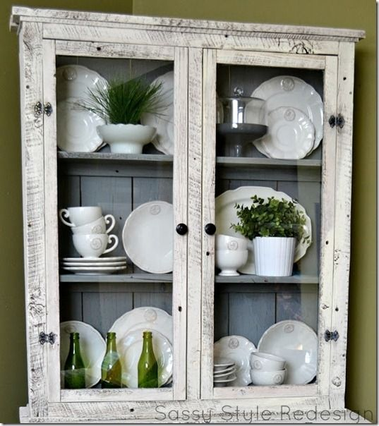I love pure white dinnerware. and the Hutch is to die for!!!