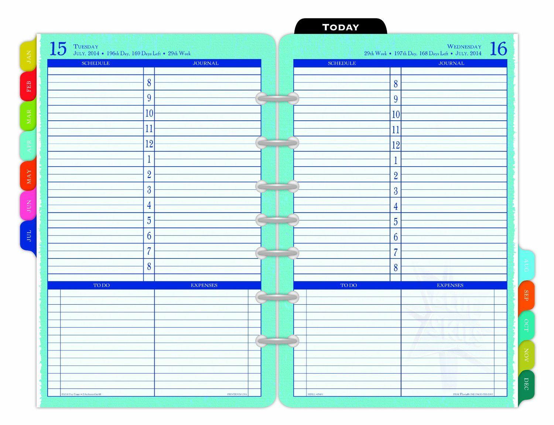 Amazon Day Timer Flavia One Page Per Day Desk