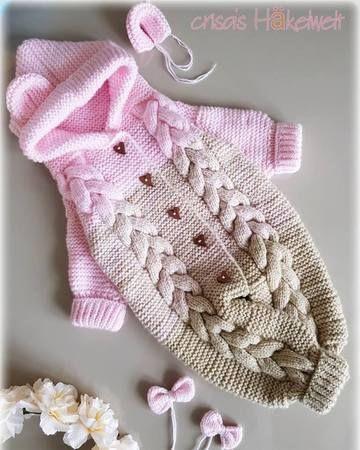Strickanleitung Babyoverall #crochetbraids