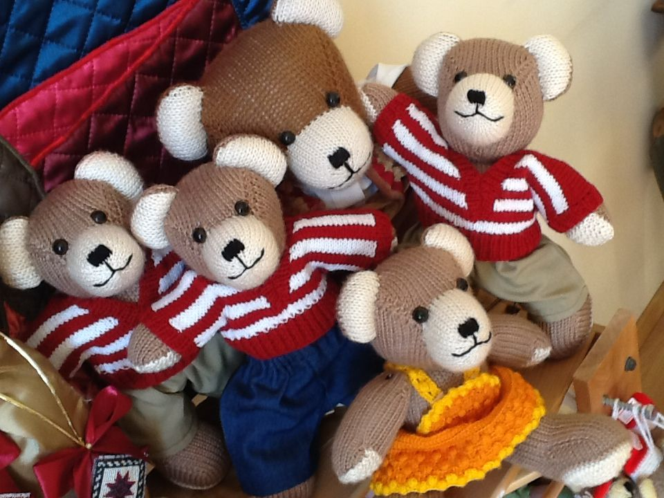 Mommy Berd Bear with the cubs! Made by women from Berd village Armenia - shipped worldwide.