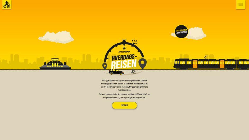 Hverdagsreisen - Illustration is a new trend in web design.
