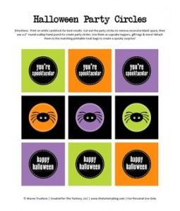 Halloween Party Circles - The Twinery