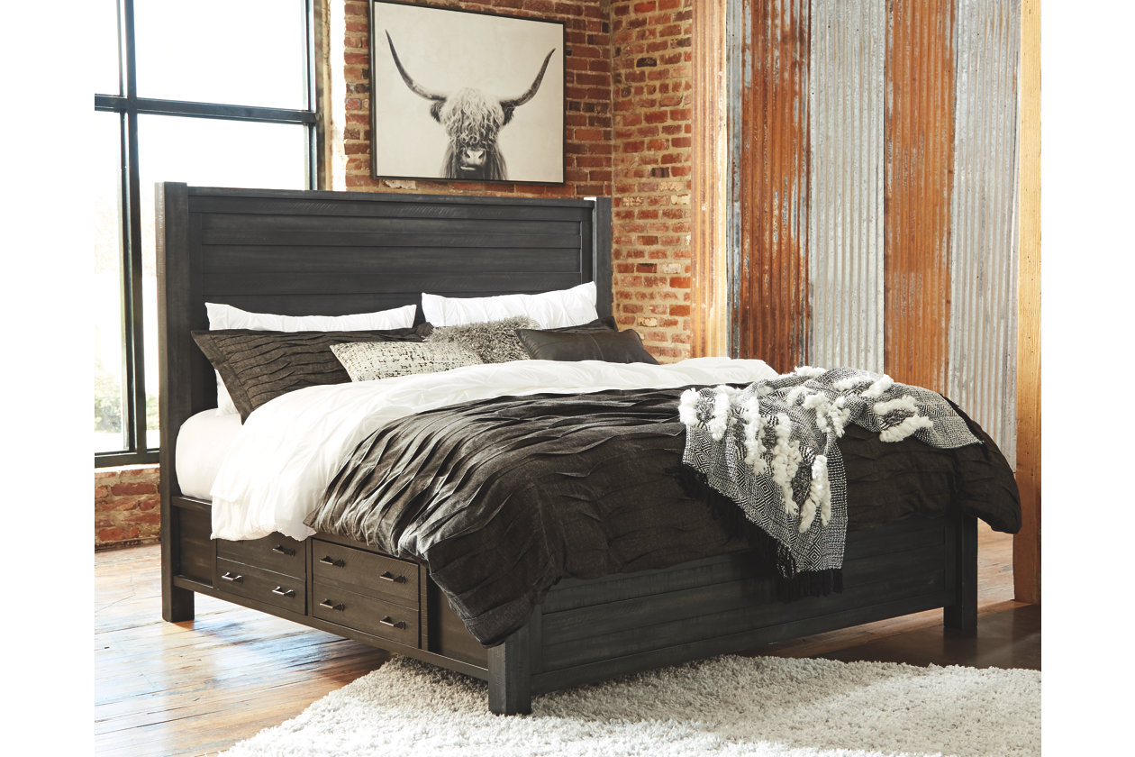 Baylow Queen Panel Storage Bed Ashley Furniture Homestore Furniture For The New House Bed Design Bed Storage King Beds