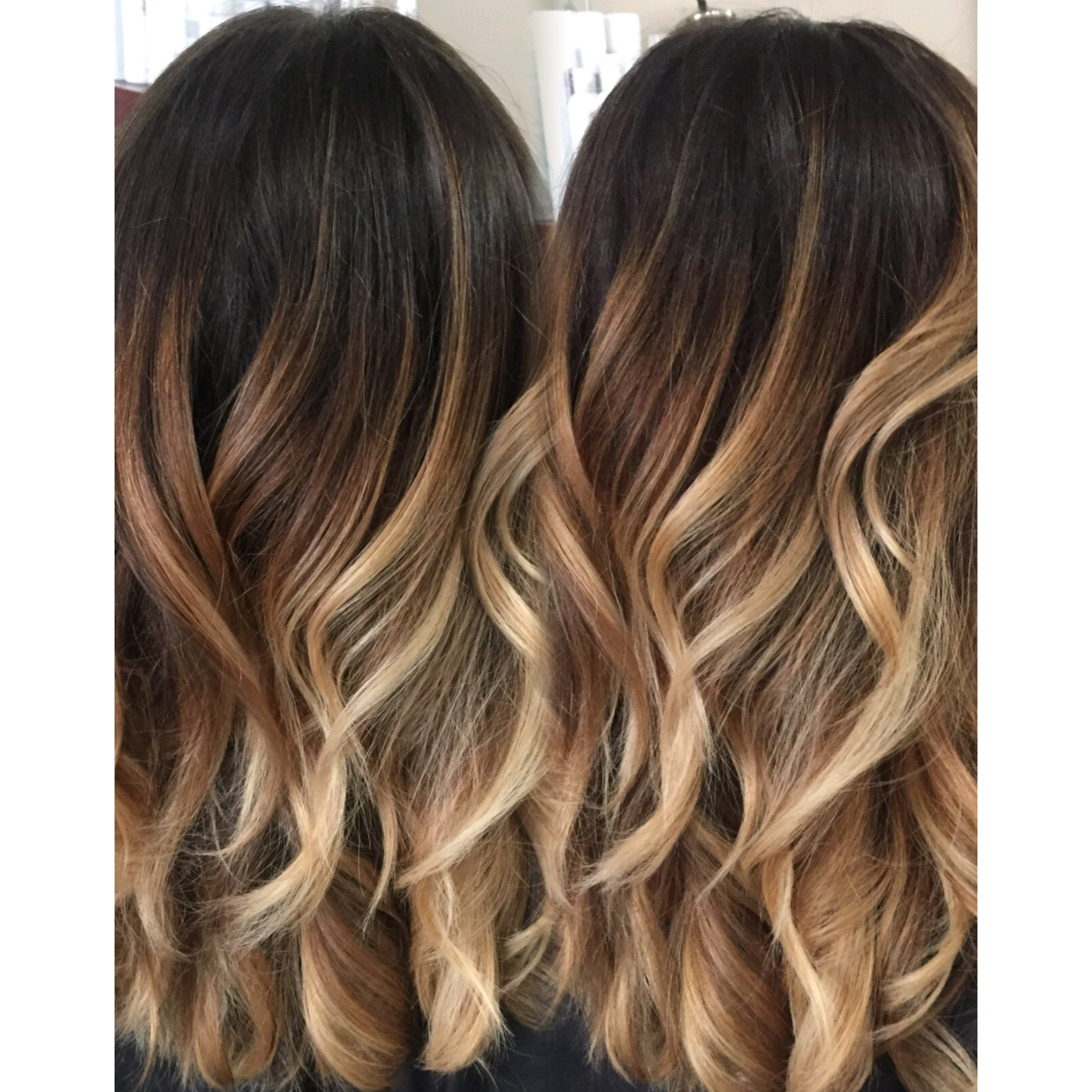 Colormelt balayage color melt hair painting freehand colorist