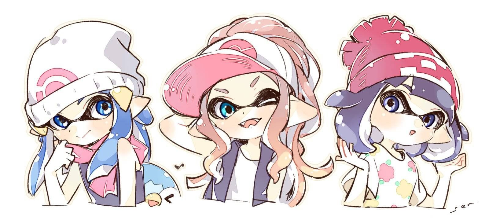 I never knew how much I wanted this to happen until now. Splatoon X Pokemon crossover? Hell yeah!