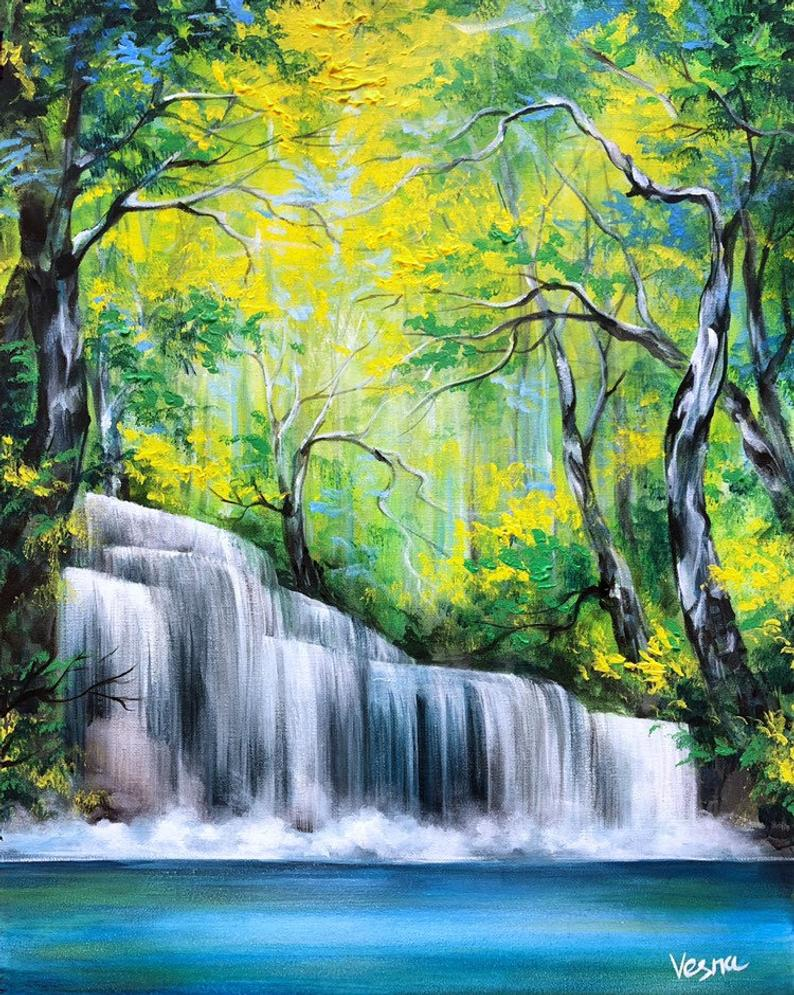 How Much Do Bob Ross Paintings Sell For : paintings, Beautiful, Landscape, Paintings,, Nature, Paintings, Acrylic
