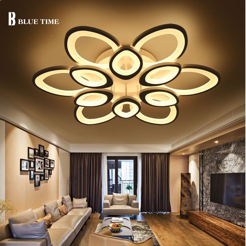 Lights & Lighting Creative Flowers Led Ceiling Lights Simple Modern Led Lamps For Living Room Bedroom Luminaria De Teto Led Ceiling Light Fixtures The Latest Fashion Ceiling Lights