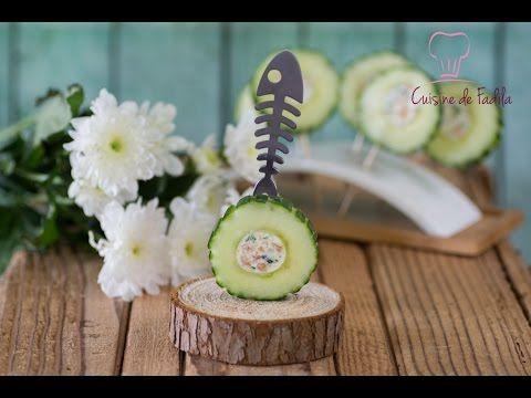 Sucettes de concombre حلقات الخيار بالجبن والسلمون - YouTube