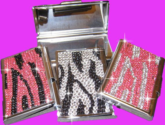 Personalized crystal clear rhinestone business card holders or pill personalized crystal clear rhinestone business card holders or pill or candy and gum holder colourmoves Image collections