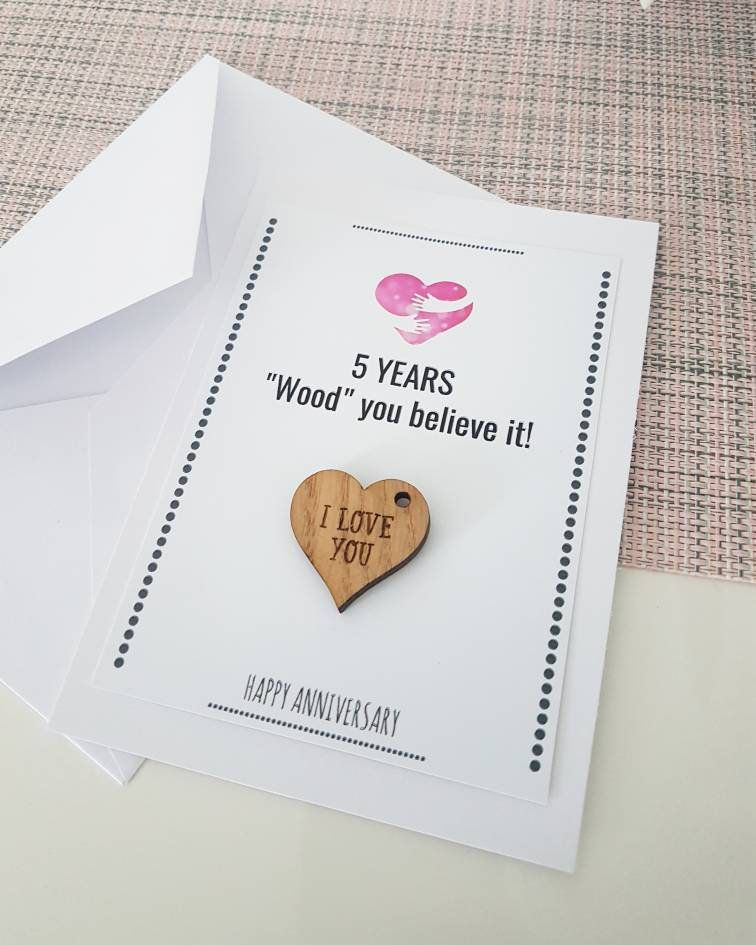 5th anniversary gift husband wife wood wooden gift