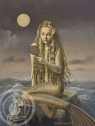 Mermaid & Mirror by David Delamare