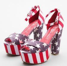 cute cute cute red white and blue. heels