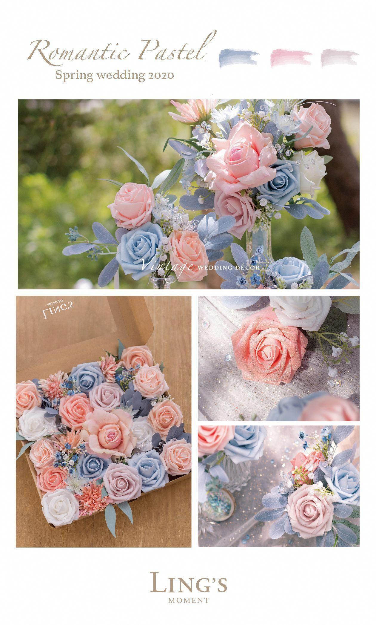 Blush & Peach Flowers Box Set - 31 Styles