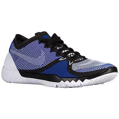 size 40 48546 e6e82 Nike Free Trainer 3.0 V4 Mens 749361-014 Black Racer Blue ...