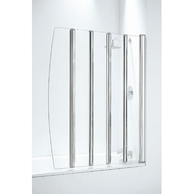 Coram Showers 106cm Five Panel Frameless Folding Door Shower Screen Screen Door Folding Doors