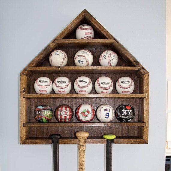 Baseball Display Baseball Holder Baseball Case Home Plate Etsy Baseball Display Baseball Holder Baseball Theme Room