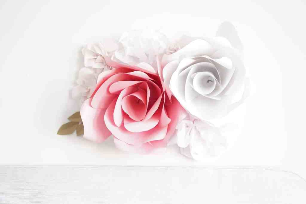 Giant Paper Rose Template and Tutorial #paperflowertutorial