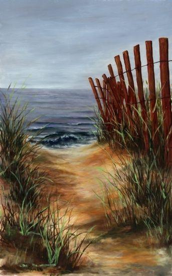 Beach Path By Cynthia Howard Oil 29 X 20 Seascape Paintings Beach Painting Beach Art