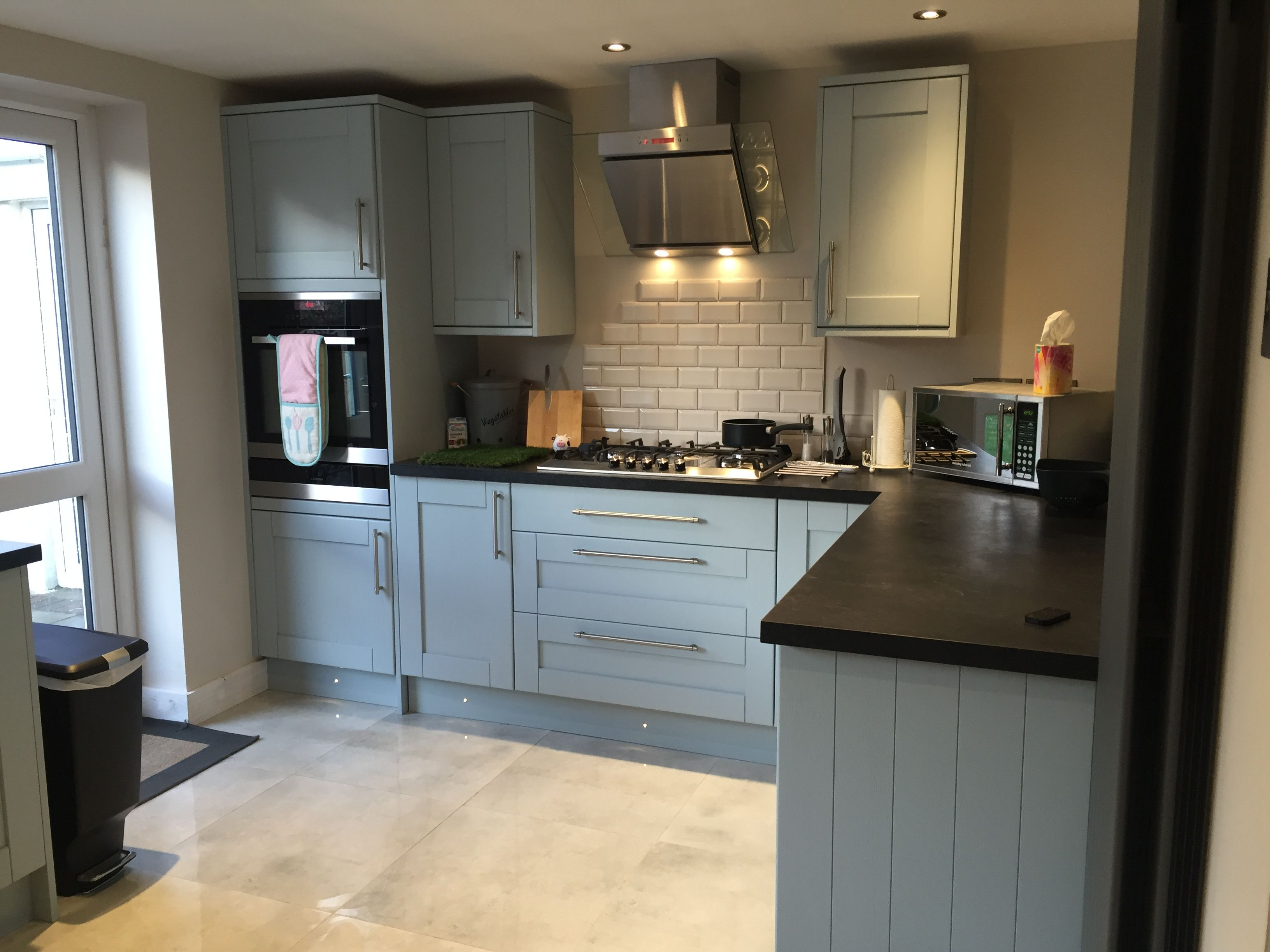 Howdens Tewkesbury Blue Kitchen Kitchen design decor