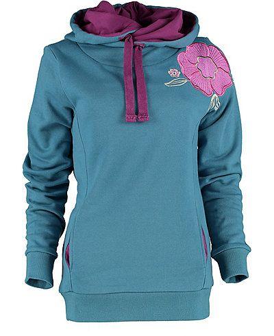 Farb-und Stilberatung mit www.farben-reich.com - Deerberg Sweatshirt Finja, dunkelpetrol - Sweatshirts - Deerberg