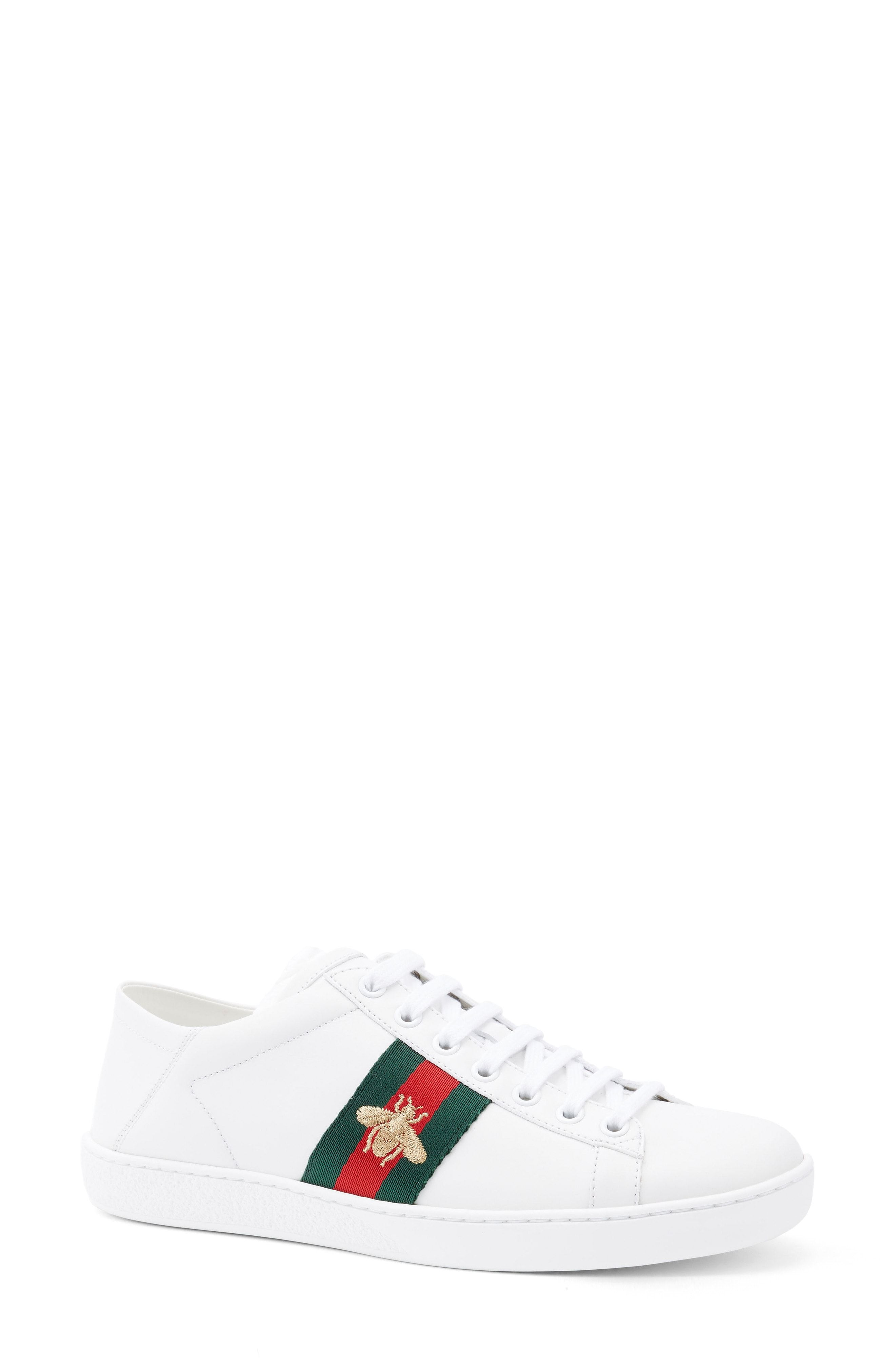 Gucci Ace Embroidered Leather