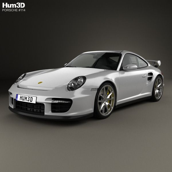 Porsche 911 GT2 (997) 2007 3d model from Hum3d.com.