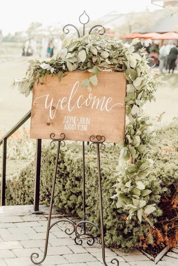 Wedding Welcome Sign - Custom Wood Wedding Sign - Wooden Wedding Sign - Country Welcome Sign - Wood Wedding Signs - Rustic Wedding Decor #weddingwelcomesign