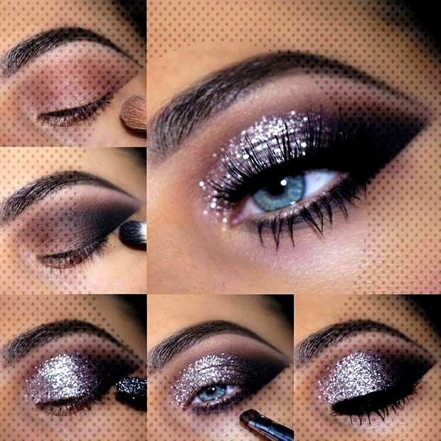 43 glittering makeup ideas for NYE - Samantha Fashion Life - 43 glittery makeup ideas for NYE- sil
