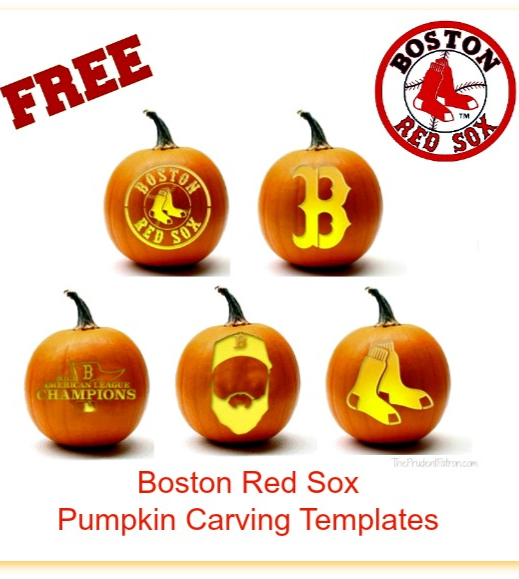 Free Boston Red Sox Pumpkin Carving Templates The Prudent Patron