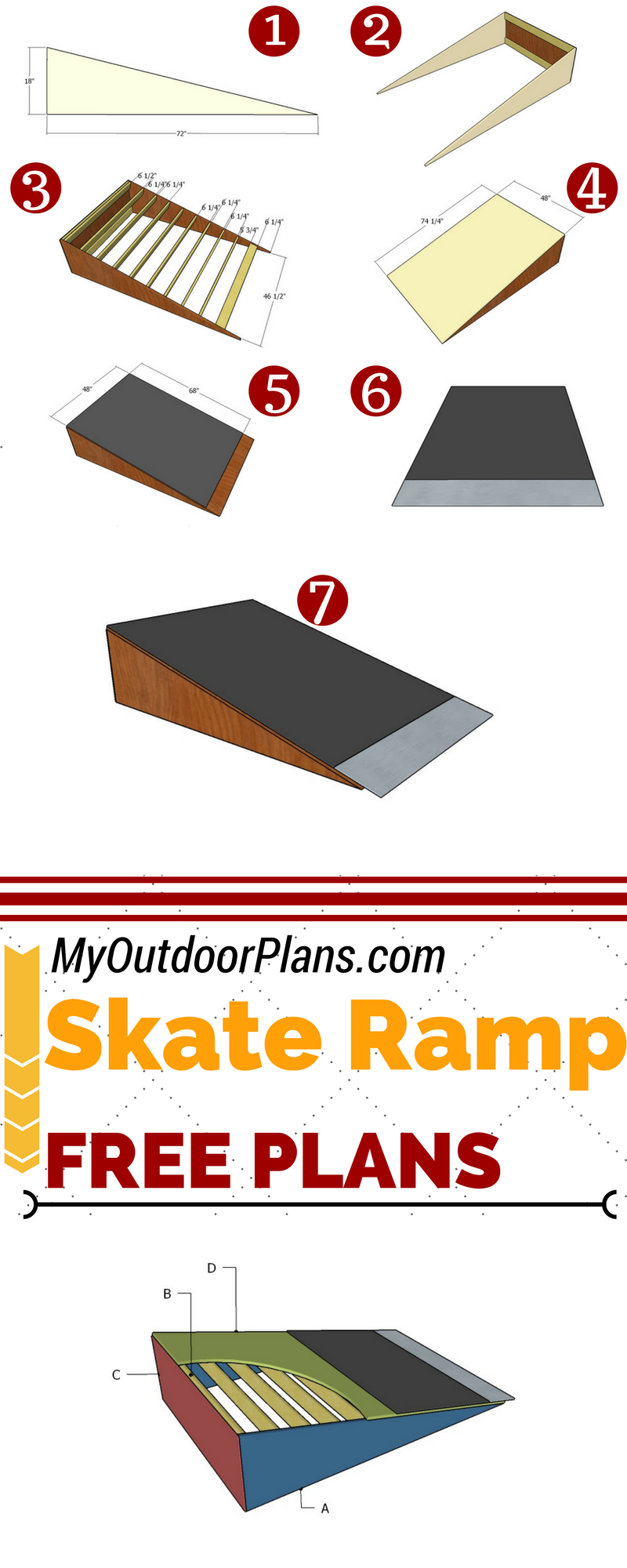 build a simple skate ramp for fun in the backyard or in the park