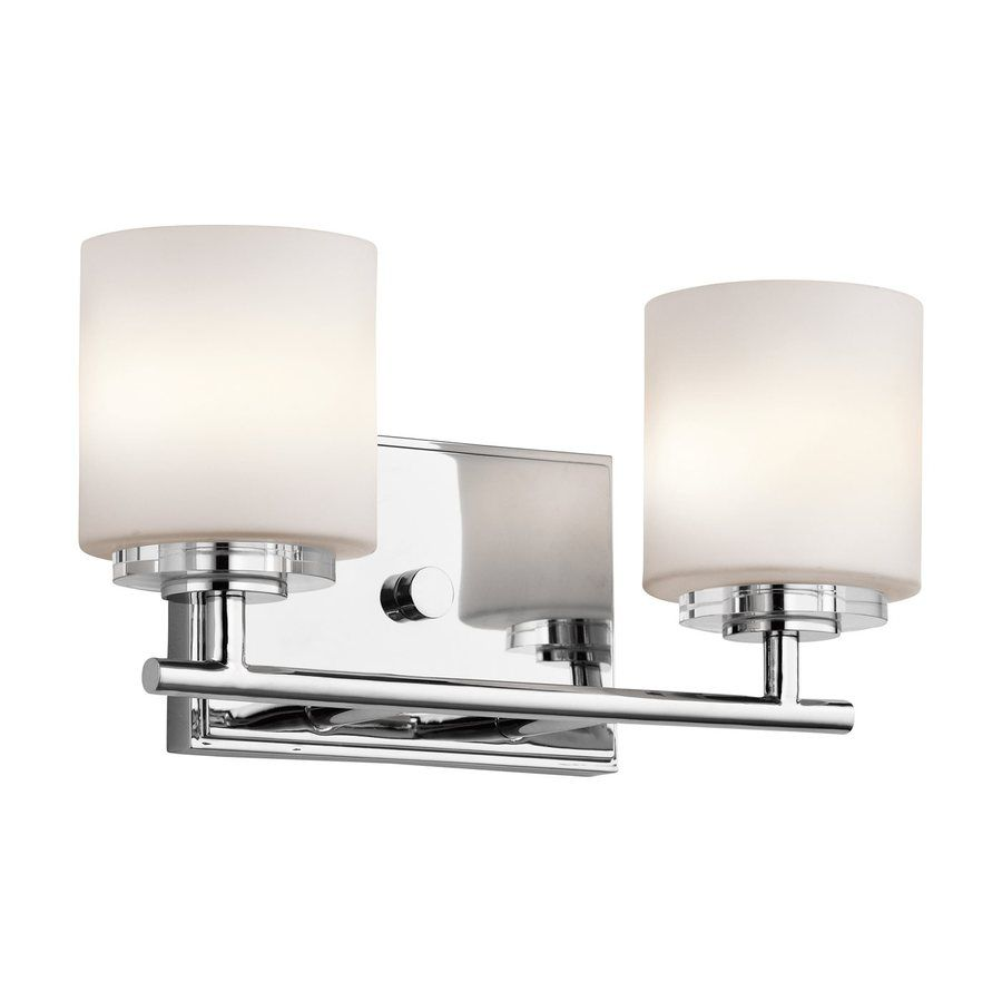 Bathroom Lighting Sconces Chrome kichler lighting 2-light o hara chrome transitional vanity light