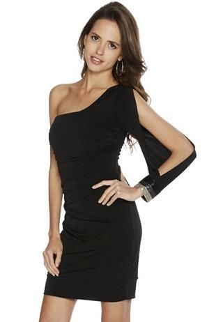 4fd0a3fee64 OPEN SLEEVE ONE SHOULDER DRESS
