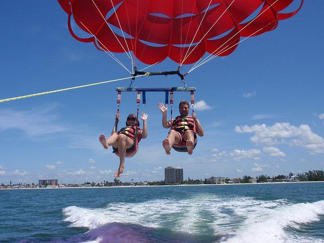 Fort Myers Beach Parasailing By Joe19g27 Via Flickr