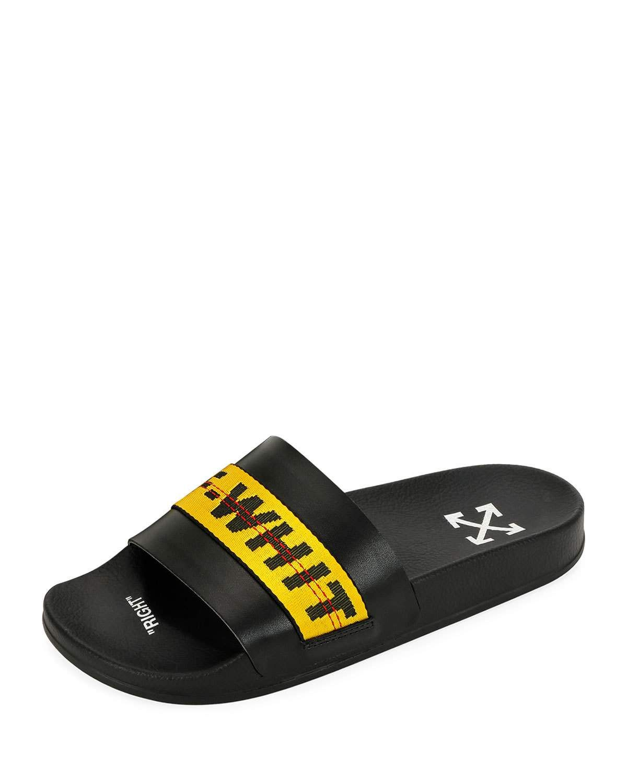 Leather slide sandals, Slide sandals