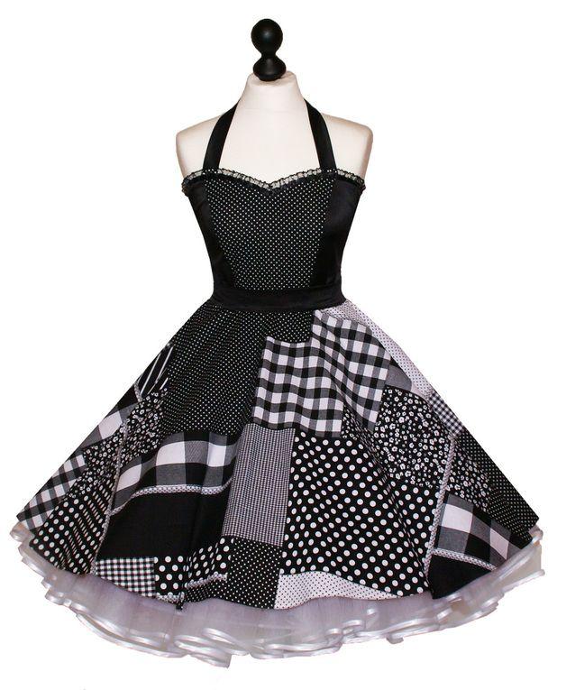 50. spodnička šaty černé a bílé body Karo | Modestil ...