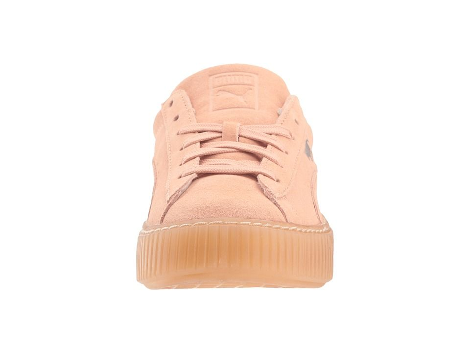 e0180f542dec Puma Kids Suede Platform Jewel (Little Kid) Girls Shoes Peach Beige Peach  Beige