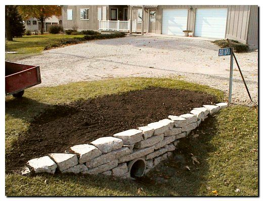 Sandy And Dan S Culvert Retaining Wall Page Outdoor Landscaping Driveway Landscaping Backyard