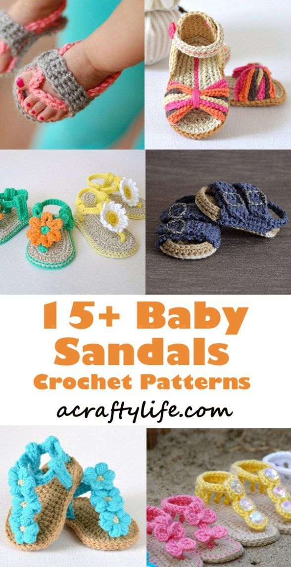 Adorable Summer Baby Shoes Crochet Patterns | Patrones Libres De ...