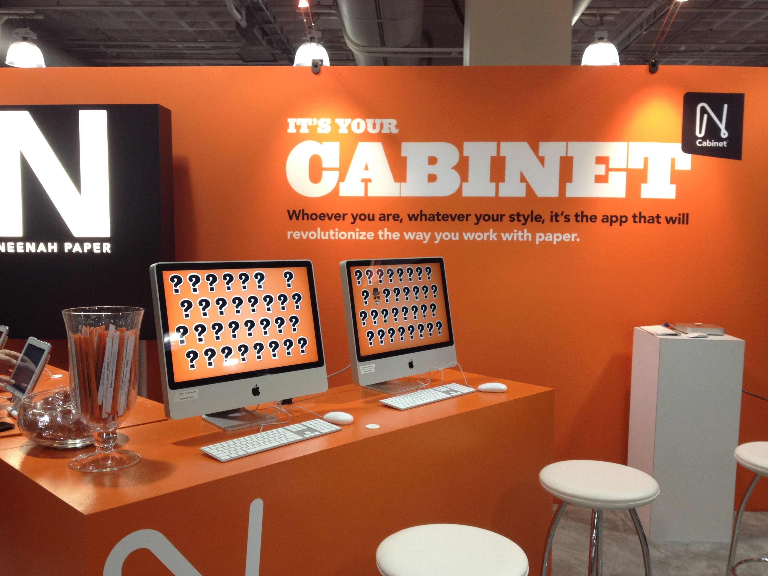 Neenah Cabinet Booth How Boston Www Neenahpaper Com