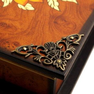 8PCS 46m Classical Vintage Metal Accent Trim Triangle Corner, Protection  Woodwork Embellishment, Wooden Box