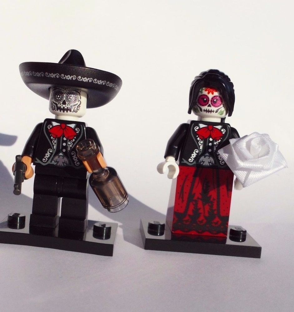 NEW LEGO bad hombre DRUNK MEXICAN COWBOY CHARRO BOTTLE BANDIT w CUSTOM SOMBRERO