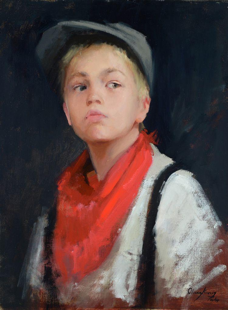 Red Handkerchief - Marci Oleszkiewicz
