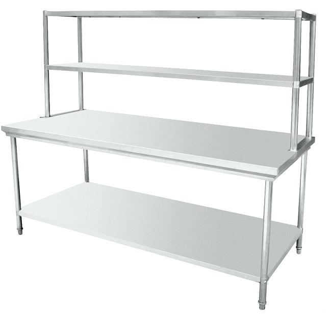 1 2 Tier Stainless Steel Over Prep Bench Table Top Shelf Rack Commercial Kitchen Business Office Industrial Work Tables Pavanelloprojetos Com Br
