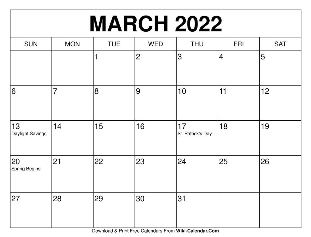 March Blank Calendar 2022.March 2022 Calendar Print Calendar 2021 Calendar 2020 Calendar Template