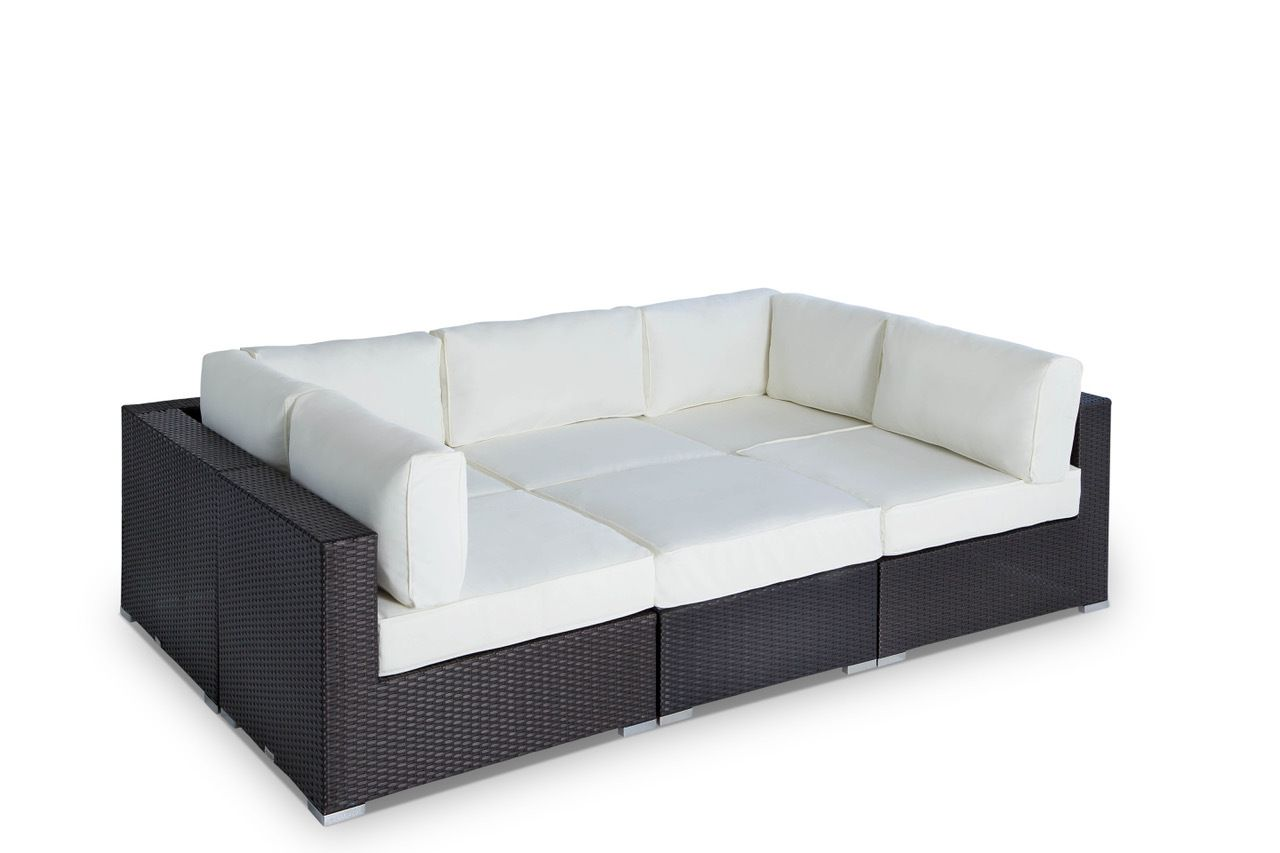 "Outdoor Wicker Furniture Sofa Sectional 6pc Resin Couch Set is part of Refinishing furniture Laminate - Outdoor Patio Wicker Furniture Sofa Sectional 6pc Resin Couch Set Ships Within 23 Days This amazing outdoor sectional comes in 6 different pieces  It is very functional and can be arranged many different ways to meet your needs! Look at our pictures to view all of the possibilities! Each wicker sectional is hand crafted by trained professionals with premium quality materials assuring your set will last many years!  Why Our Furniture is the Best! Hospitality Grade Construction ( built to withstand high traffic use)  Powder coated aluminum frame Seating Strap Support System  Hand woven with UV Environmentally friendly Weather Wicker  HDPE (HighDensity Polyurethane Resin) All weather Resistant Wicker  Premium Upgraded Commercial Quality Foam Cushions 4""  Welted, Zippered, & Removable, Cushion Covers  Machine Washable Covers  Manufacturer Warranty  Virtually Maintenance Free!  This Set Includes Wicker Color Espresso  Cushion Cover Color Ivory  2 Corner lounges (can be used either side) each comes with 4 ; thick seat cushion and 2 back pillows upholstered with a great looking Ivory weather fabric  Overall Dimensions  W35 x D35 x H28  3 Mid 4"" thick seat cushion and 1 back cushion upholstered with a great looking Ivory weather fabric  Dimensions  W29 x D35 x H28"" 1 Ottoman 4"" thick cushion upholstered with a great looking Ivory weather fabric  Dimensions  W29 x D29 x H18""  Additional pieces available to make your sectional just the way you want   A Transitional, Contemporary Sectional, very versatile, it can be displayed many different ways  It is Hand Crafted with Powder coated aluminum frame, Seating strap support system to bring extraordinary comfort, woven with UV EcoFriendly Weather Wicker  This material is excellent for any weather condition, no maintenance required, it doesn't fade with the sun  You can have this set by the pool, Ocean, patio, or in your backyard all year long  Don't miss this opportunity to give style and comfort to your outdoor area! We carry many other matching pieces to give your patio the look you've always wanted, go to our store for all furniture options  We supply hospitality & commercial businesses; for specific colors and quantities, shipping requirements to Canada & Mexico and any additional information, please contact us at jlf@mangohome com"