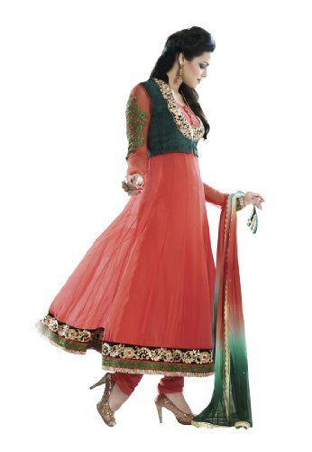 Fabdeal Women's Indian Designer Wear Embroidered Anarkali Suit Orange Fabdeal, http://www.amazon.de/dp/B00GAPYDYS/ref=cm_sw_r_pi_dp_D69otb0WJJASH