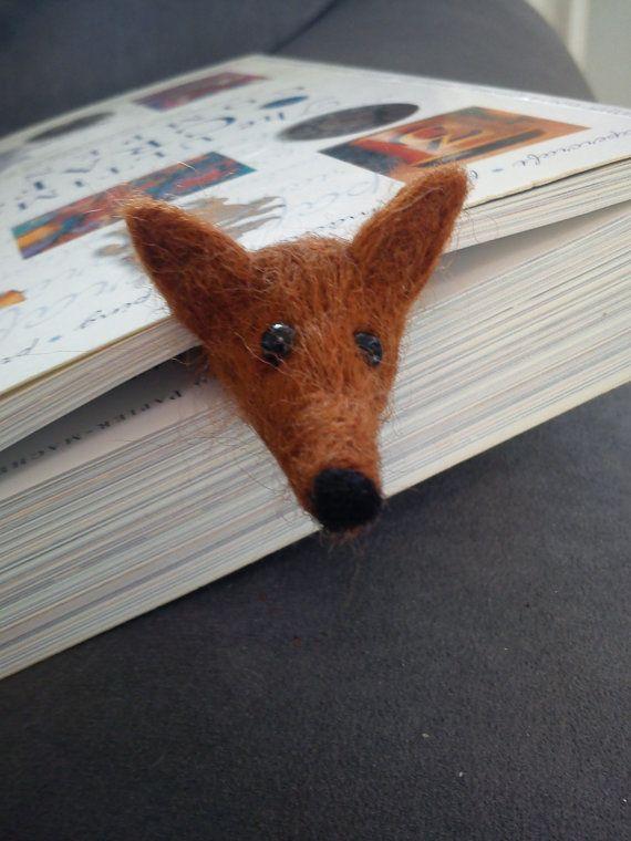 Needle felted bookmark fox by FeltedByRikke on Etsy, $10.00