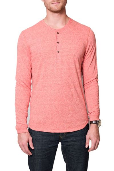 #AlternativeApparel Alternative Apparel Burnside Henley- Cayenne #ecofriendly #sanfrancisco www.begoodclothes.com