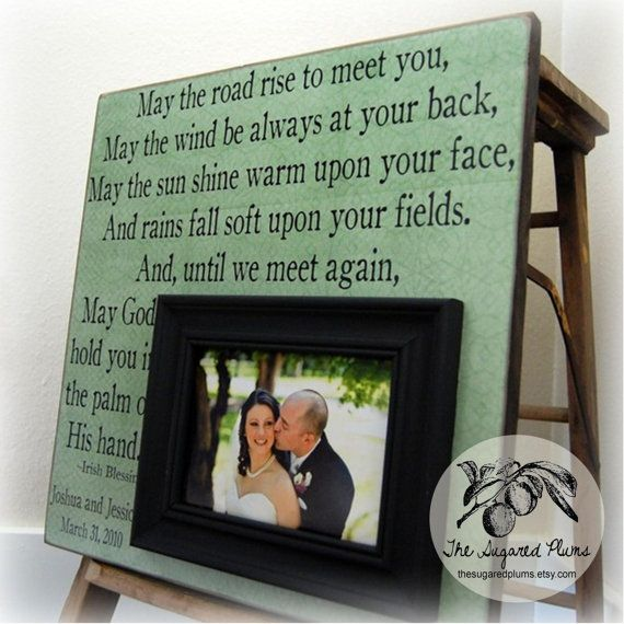 Irish Wedding Gifts From Ireland: IRISH BLESSING Personalized Picture Frame 16x16 -May The